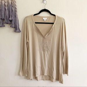 J. Jill • popover long sleeve tunic medium